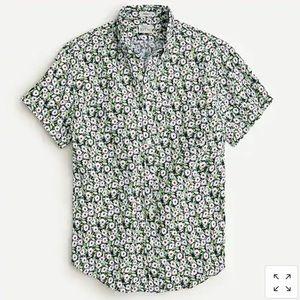 J. CREW Men's Linen Shirt in Daisy Print